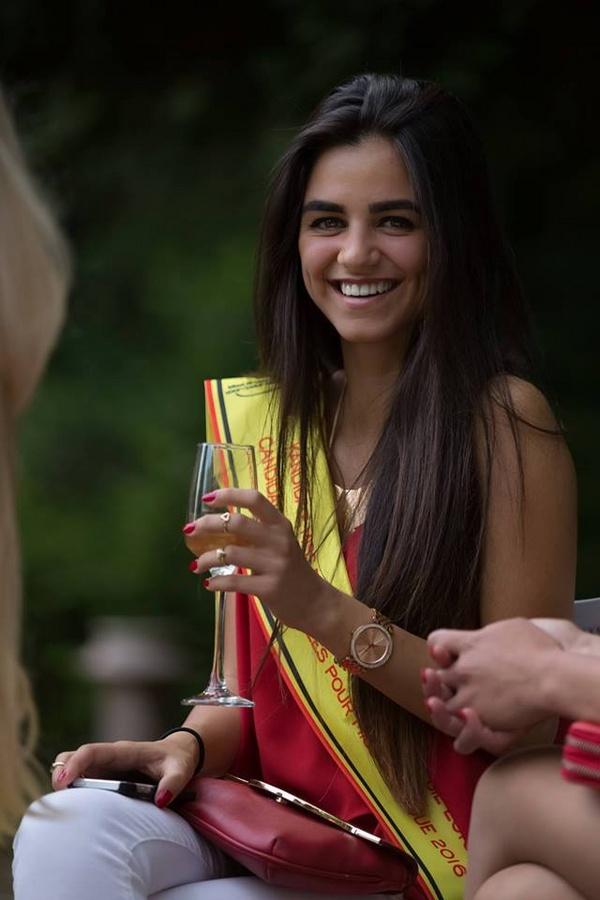 بالصور:لبنانية ملكة على عرش الجمال البلجيكي