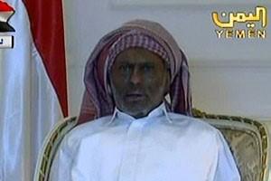 في أول ظهور له الرئيس اليمني صالح بوجه محروق ويدين ملفوفتين بالشاش موقع عربي أمريكي